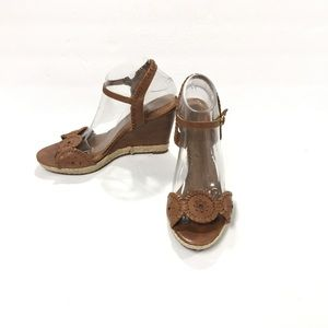 Jack Rogers Clare Tan Wedge Sandals Size 9.5